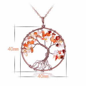 The Famous Tree of Life Comes in Many Styles. Differentiate yourself With a Natural Chakra Tree-of-Life Pendant Necklace - Garden Gift Hub