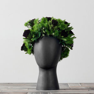 The WIG Vase by Tania da Cruz. Replica Scandinavian Handmade Porcelain Head Vase - Garden Gift Hub