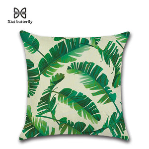 Get Creative With Stylish Tropical Plants Linen Cushion Covers - Garden Gift Hub