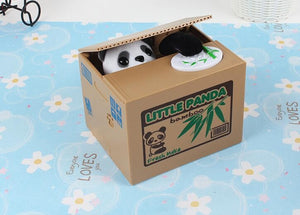 Coin Stealing Panda Money box. I see you! - Garden Gift Hub