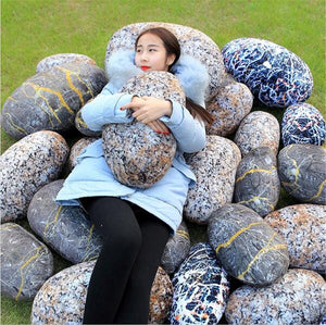 Pebble Pillows!  Show Off Plush Rock Cushions For Home & Garden - Garden Gift Hub