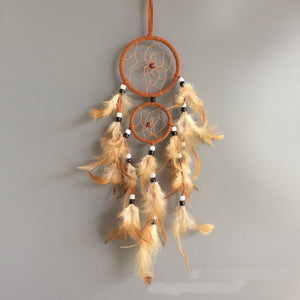 vintage home decoration retro feather dream catcher circular feathers wall hanging dreamcatchers decor for car - Garden Gift Hub