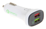 4.8A Double USB Car Charger White/Grey