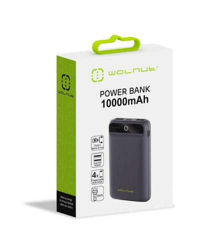 10000 mAh Pocket Power Bank Black