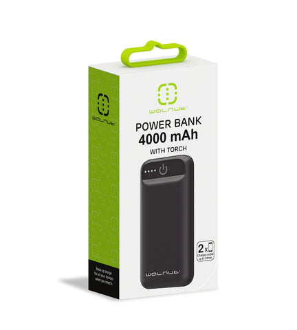 4000 mAh Pocket Power Bank Black