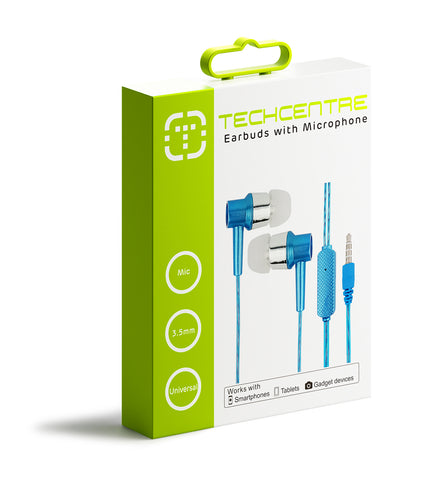 Earbuds with MIC Blue
