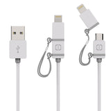 MFI Lightning/Micro USB Cable White/Grey 1.2m