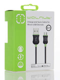 Micro USB Cable Black/Green 2m