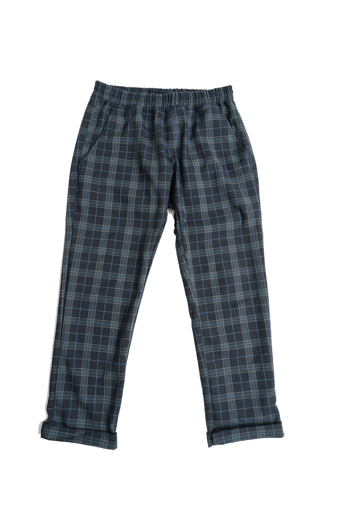 Check Ankle cut Pants DarkBlue or Grey