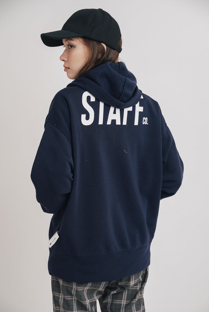 Staff Tuckable Hoodie Midnight Blue