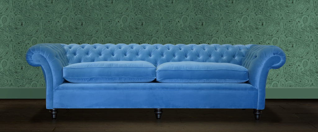 Velvet Chesterfield Sofas – Chesterfields of England