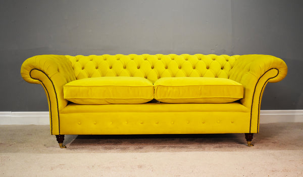 Vegan-Friendly Velvet Sofa