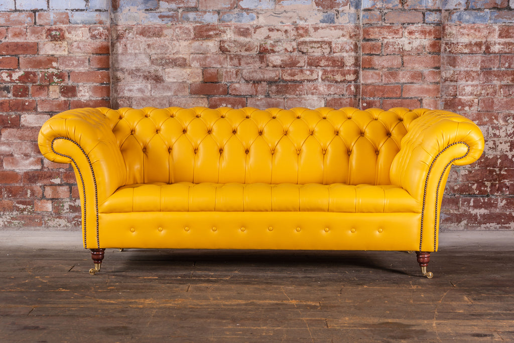 The Cliveden 3 seat in Vegan Chaps Lion Leather £1400 RRP £2516.80