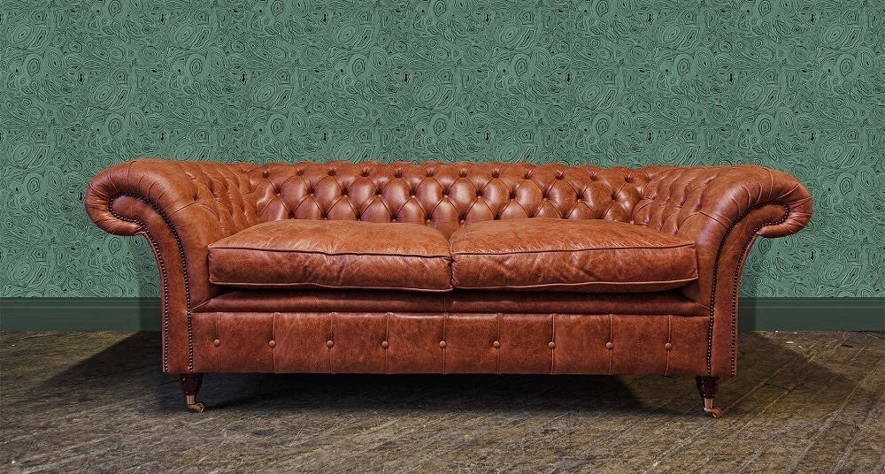 The London Premium Vintage Hide 3 seater ex Photo shoot £1400