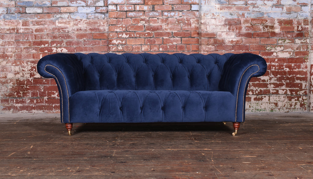 The Stanhope 3 Seater in Amalfi Dark Blue - £960 RRP £2516.80