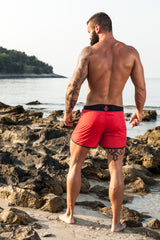 FarOut Black&red swim shorts