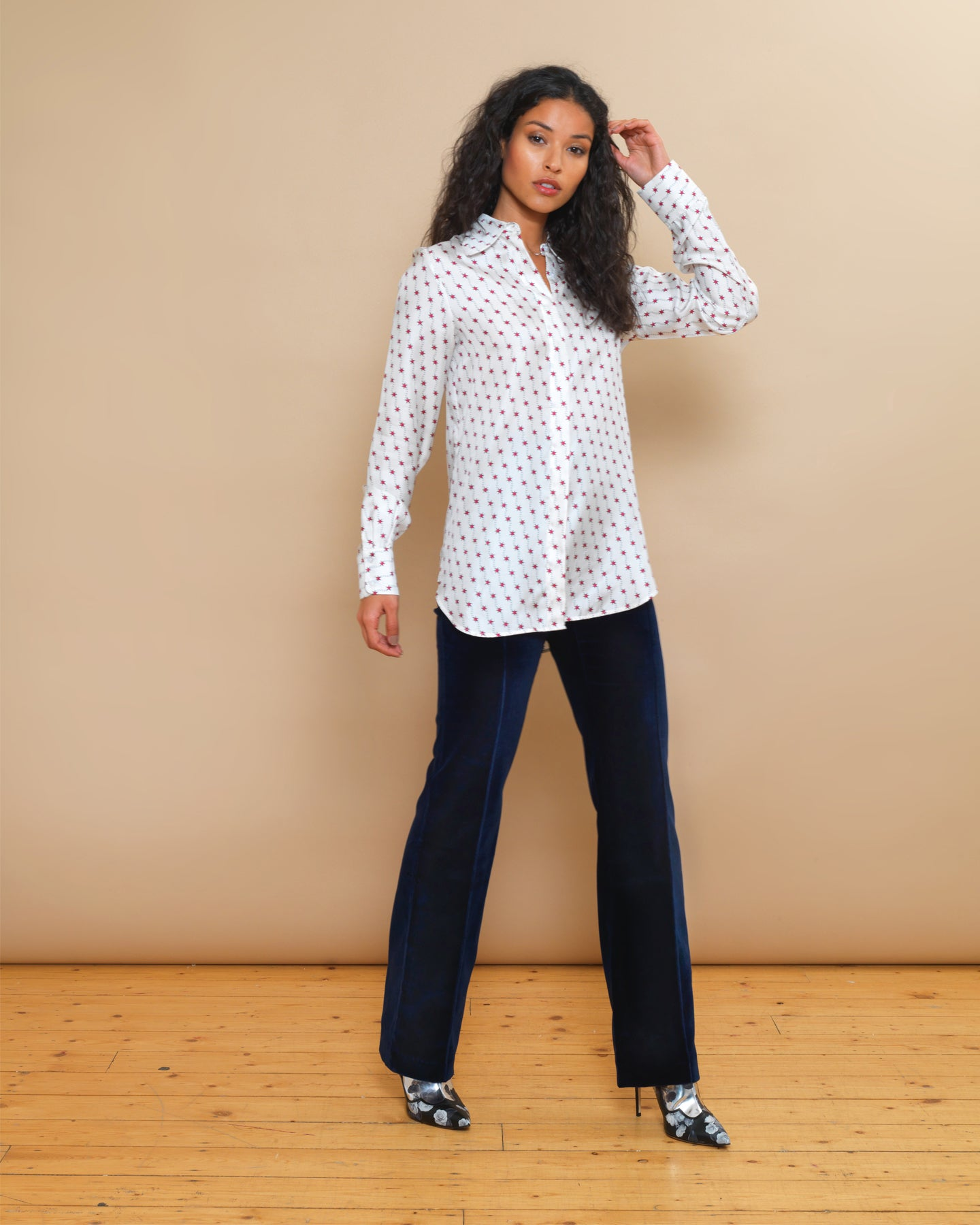 Bailey silk star print shirt