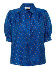 Betty star print silk shirt