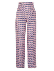Salome Love Heart pink silk trousers
