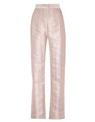 Hetty Metallic Pastel Zig Zag Jacquard Trousers