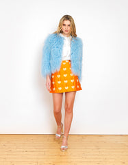 Colette Baby Blue Cropped Wool Jacket