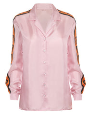 Bailey Pastel Heart Print Silk Shirt