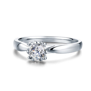 ANI 18K White Gold (AU750) Women Engagement Ring 0.2 CT Certified I/SI Round Cut Natural Diamond