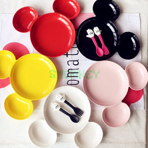 Melamine Baby Infant Cute mouse shape Feeding Plate Fruit snack Dishes