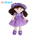 girls dolls summer style with sunhat cute soft cuddle toys for baby girls