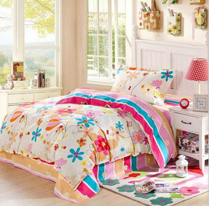 3pcs Bedding Set for Kids Cotton Duvet Cover Sheet Pillowcase