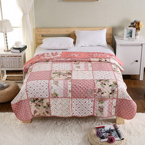 100% Cotton Patchwork Quilt 1 piece Twin Size Student Quilts Sofa Blanke