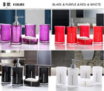 Acrylic Bath Series Bathroom Set Accessory Eco-friendly Square And Round Crystal Diamond Soap Dish Cups Lotion Bottle 0908