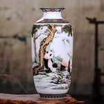 Ceramic Vase Vintage Chinese Style Animal Vase Fine Smooth Surface Home Decoration