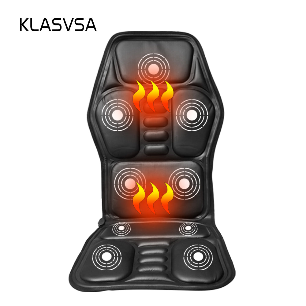 Heated Back Massage Seat Topper Car Home Office Seat Massager Heat Vibrate Cushion