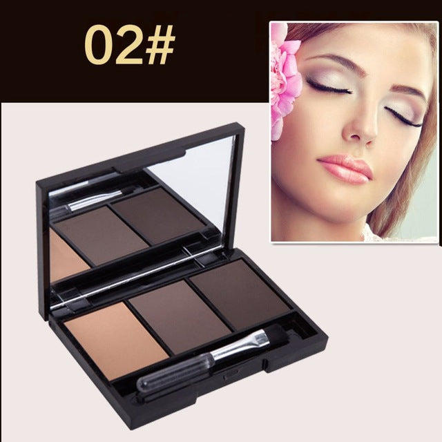 Cosmetic Matte Eye Shadow 3 Colors Make Up Set Women Makeup Eyeshadow Palette Eyebrow Eye Shadow Powder Natural Cosmetics Set