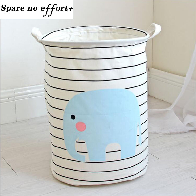Fabric Laundry Basket 30x45cm Waterproof Basket For Toys Baby Dirty Clothes