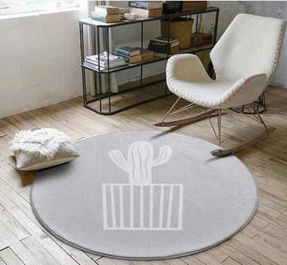 Nordic fashion round carpet coffee table room bedroom living room Rug garden