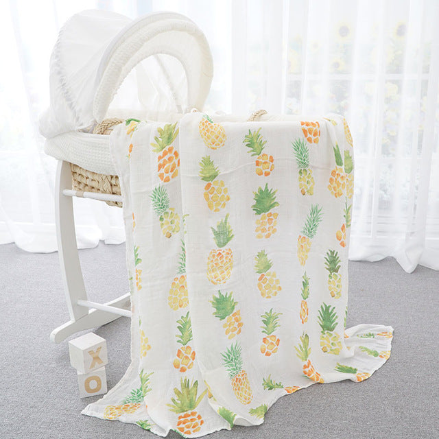 Newborn Baby Swaddle Wrap Super Soft Crib Sleeping Blankets 120*120cm for 0-3 Mon