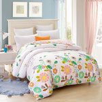 100% cotton duvet cover Printed colored flowers  quilt cover for bed 220/240 twin full king queen