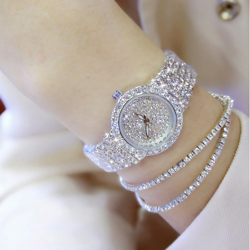Luxury Women Watches Diamond Famous Brand Elegant Dress Quartz Watches