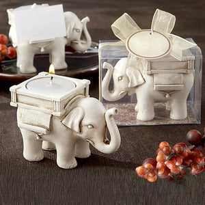 Wedding Favor Home Decor Lucky Elephant Tea Light Candle Holder Candlestick