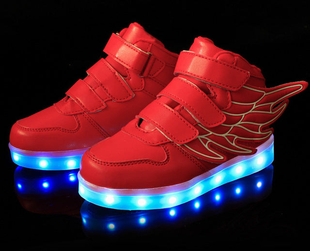 kids light up shoes with wing led slippers do with light up led shoes
