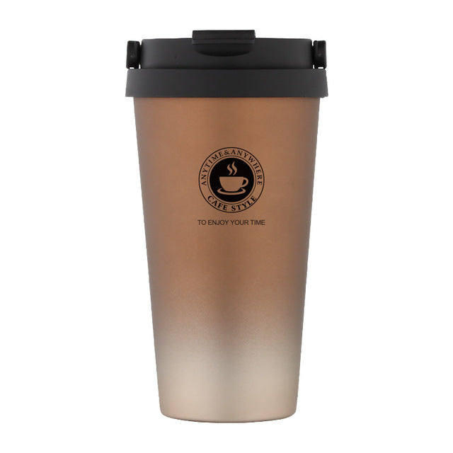 Vacuum Insulated Travel Coffee Mug Stainless Steel Tumbler Sweat Free 500mL 17Oz