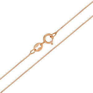 18k Pure Gold Necklace Rose White Yellow Genuine Women Fine Simple Slim Thin Chains Hot Sale Matched For Any Pendant trendy new