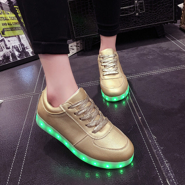 Size 26-44 Kids Luminous Sneakers for Girls Boys Women