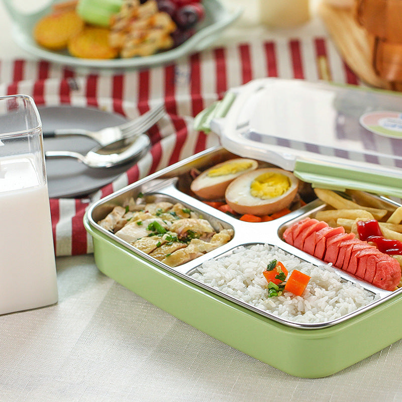 Stainless Steel Lunch Boxs Containers With Compartments Microwave Bento Box For Kids