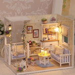 Doll House Furniture Diy Miniature Dust Cover 3D Wooden Miniaturas Dollhouse Toys for Children