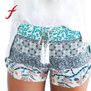FEITONG 2017 New Fashion Shorts Women Sexy Hot Summer printed High Waist Shorts Loose Casual Short feminino Plus Size XXL