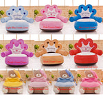 Only Cover No Filling Baby Bean Bag Cartoon Crown Bear Baby Chair Toddler Nest