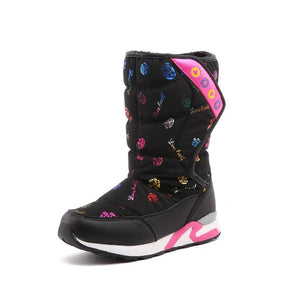 Fashion 2018 girls winter boots children Girls Boots children's shoes Waterproof Snow Boots  Warm Plush Winter Shoes Kids Boots
